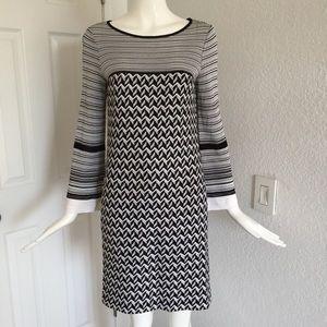 Missoni Black white shift dress